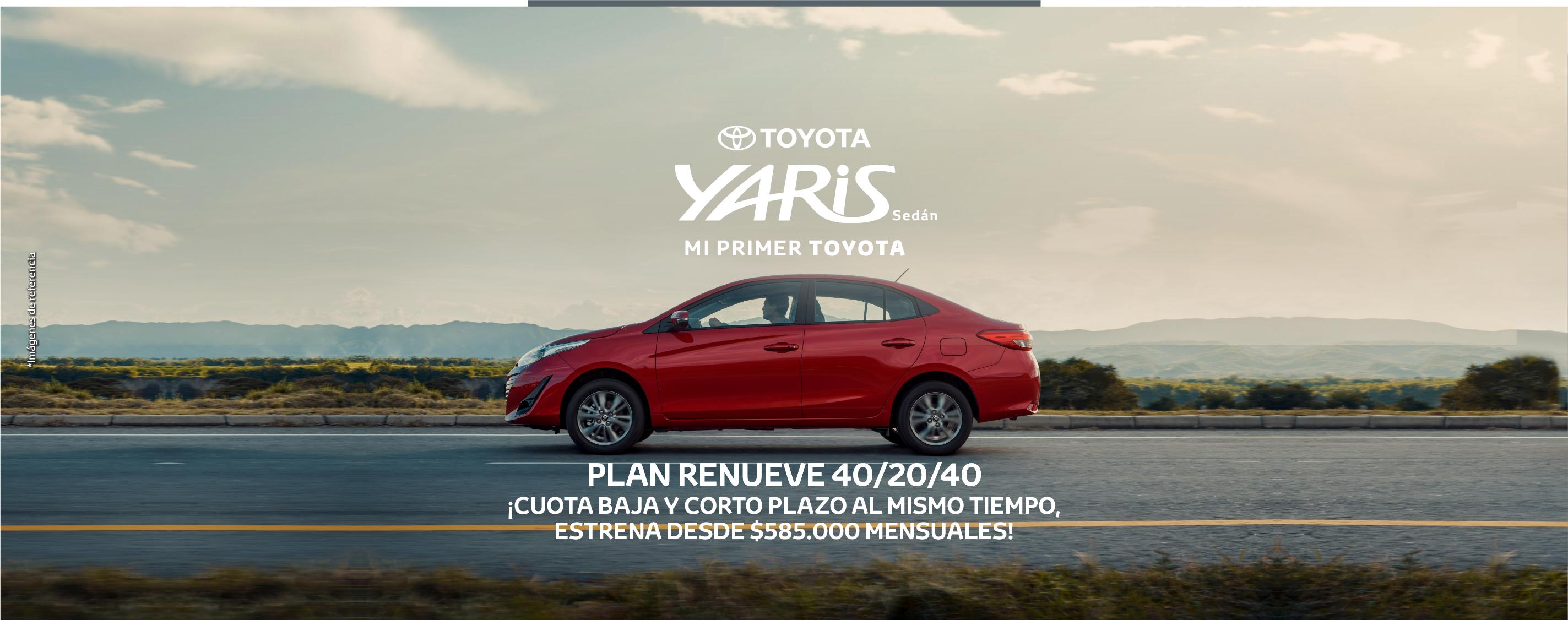 Toyota Yaris Sedán Rojo